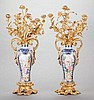 A PAIR OF CHINESE PAINTED AND ENAMELED PORCELAIN VASES