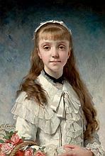 CHARLES CHAPLIN (French, 1825-1891) La fille du peintre