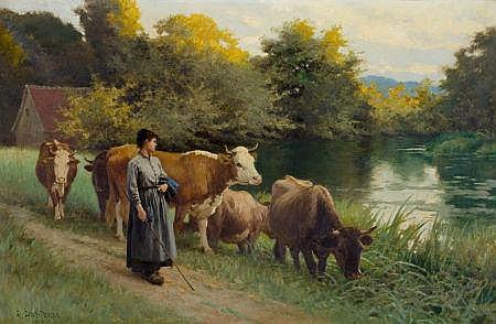 EDOUARD BERNARD DEBAT-PONSAN (French, 1847-1913) Young