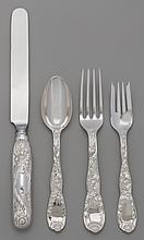 A FORTY PIECE TIFFANY & CO. CHRYSANTHEMUM PATTERN SILVE