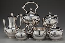 A SEVEN PIECE TIFFANY & CO. SILVER TEA AND COFFEE SERVI