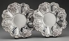 A PAIR OF REED & BARTON FRANCIS I PATTERN SILVER UNDER
