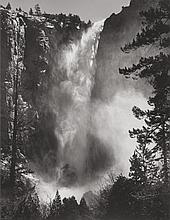 ANSEL ADAMS (American, 1902-1984) Bridal Veil Fall, Yos