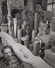 BERENICE ABBOTT (American, 1898-1991) Chaim Gross, circ