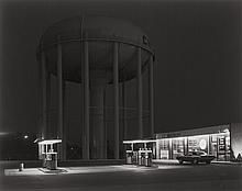 GEORGE A. TICE (American, b. 1938) Petit's Mobil Statio