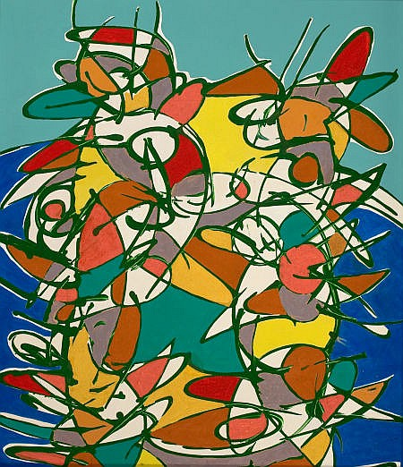 JULIAN MORALES (Cuban, 1937-1990) Untitled (Abstract in