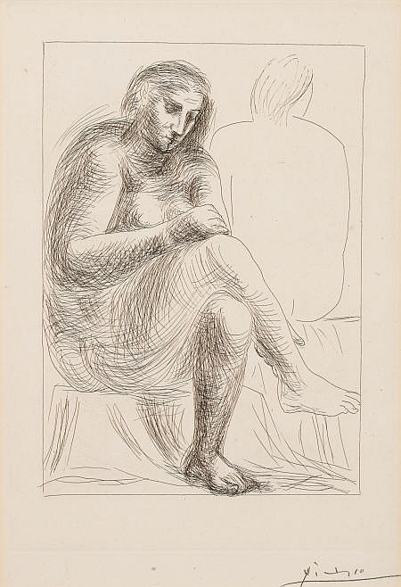 PABLO PICASSO (Spanish, 1881-1973) Au bain (from Vollar