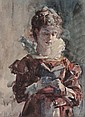 JULIUS L. STEWART (American, 1855-1919) Portrait of a W