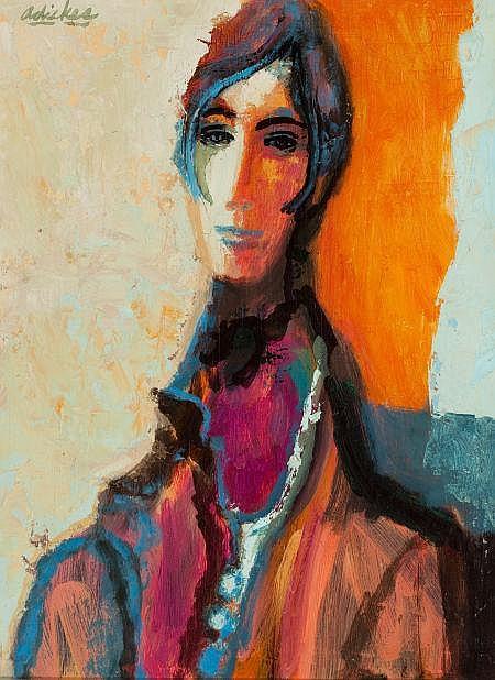 DAVID PRYOR ADICKES (American, b.1927) Girl With Short
