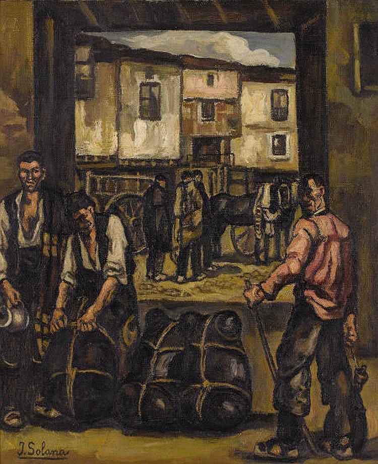 JOSÉ GUTIÉRREZ SOLANA (Spanish 1886-1945) Los