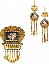 Victorian Enamel, Gold Jewelry Suite, Eugene Fontenay
