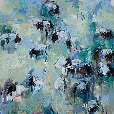 THEODORE WADDELL (American, b. 1941) Roscoe Sheep