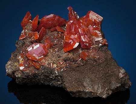 WULFENITE Red Cloud Mine, Silver Dist., Trigo Mts., La