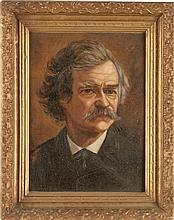 Mark Twain: A Fine Oil Portrait Attributed to James Car