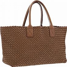 Bottega Veneta Tan Intrecciato Nappa Leather Cabat Bag