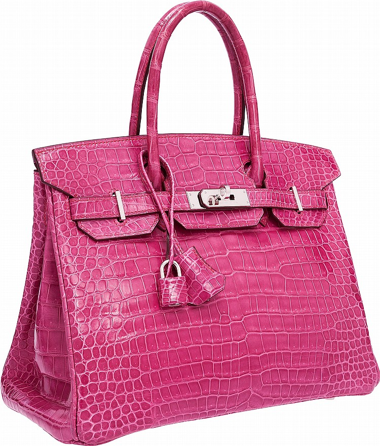 pink crocodile birkin bag