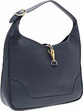 Hermes 31cm Blue Marine Ardennes Leather Trim II Bag wi