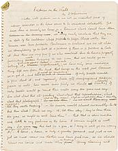 D.H. Lawrence. Holograph Manuscript of Pictures on the