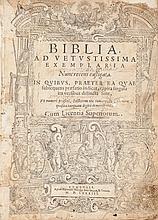 [Bible]. Biblia ad vetustissima exemplaria nunc recens