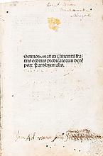 [Incunable]. Vincentius Ferrerius. Sermones sancti Vinc