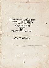 Pomponius Laetus [Leto] and Marcantonio Sabellico. Roma