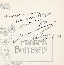 [Giacomo Puccini, composer]. Madama Butterfly. Milano: