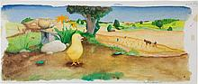 Garth Williams (American 1912-1996). Original Watercolo