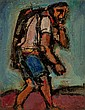GEORGES ROUAULT (French, 1871-1958) Chemineau, 1937 Oil