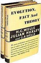 H. G. Wells, Julian Huxley and G. P. Wells. Pair of Wor