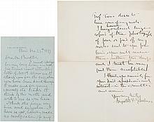 Augustus Saint-Gaudens Autograph Letter Signed and Lett
