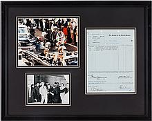 John F. Kennedy Telephone Bill Signed
