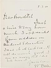 William Osler Autograph Letter Signed.