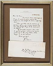 John Steinbeck Autograph Letter Signed.