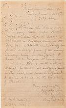 Confederate General William Wirt Allen Autograph Letter