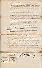 Robert Morris Document Signed
