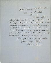 Horace Mann Autograph Letter Signed.