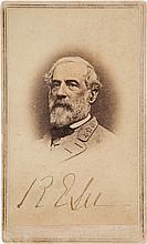 Robert E. Lee Carte de Visite Signed.