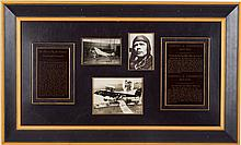 Charles Lindbergh Photograph Signed with a Clarence Cha