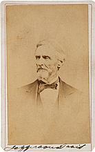 Jefferson Davis Carte de Visite Signed.
