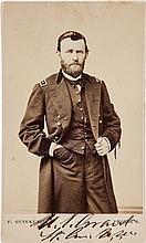 Ulysses S. Grant Carte de Visite Signed