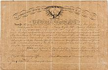 Benjamin Harrison Civil War Military Appointment Signed