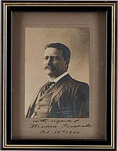 Theodore Roosevelt Signed Photograph