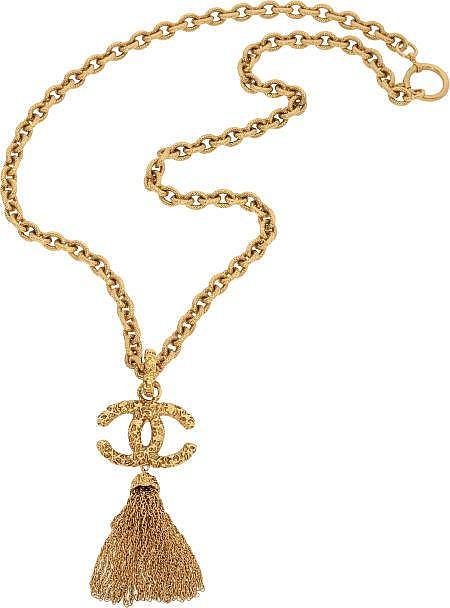 Chanel 1993 Etruscan Heavy Tassel Runway Necklace