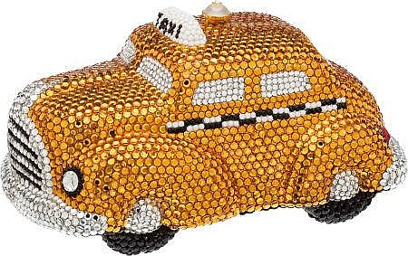 Kathrine Baumann #6/500 Full Bead I Love NY Yellow Taxi