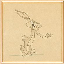 Bugs Bunny Animation Drawing (Warner Brothers, c. 1940s