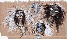 Corpse Bride Emily Concept Sketch Animation Drawing (Wa