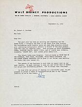 Roy Disney Signed Letter (1959).