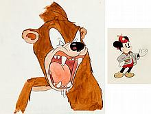 The Pointer Mickey Mouse and Bear Color Model Animation
