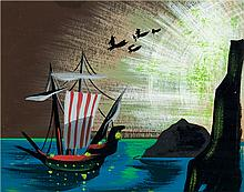 Mary Blair Peter Pan Concept Painting (Walt Disney, 195
