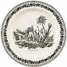 [Spanish Texas]. Champ d'Asile Creamware Plate.